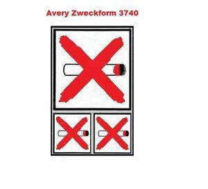 Avery Zweckform Hinweis-Etiketten 2 Formate 3 Etiketten Rauchen verboten 3740
