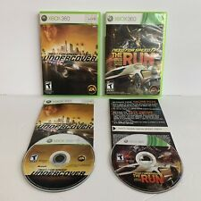 Need for Speed Microsoft Xbox 360 Game Lot (2): Undercover & The Run TESTED