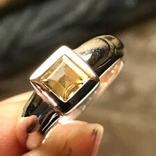 Natural Golden Citrine 1ct 925 Sterling Silver Engagement Bezel Ring 6
