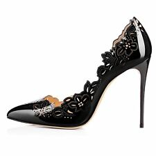 Women Big Size Shoes Pointed Toe High Heels Stiletto Pumps Wedding Court Shoes