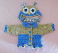 """American Girl Sweater Doll Clothes Blue Owl Sweater Hat Fits American Girl 18"""""""