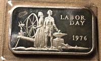 1976 Labor Day Madison 1 Ounce .999 Silver Art Bar