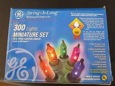 GE 300 Lights Miniature Set 124' total String-A-Long Indoor Outdoor StaysLit NIB