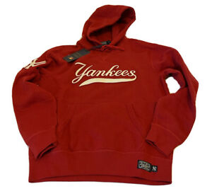 RED POLO RALPH LAUREN Men's MLB Collection NY Yankees Hoodie Red sz L