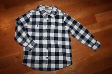 NWT Gymboree Smore Style Size 4 Navy Blue Plaid Flannel Shacket Jacket Top