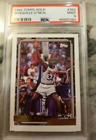 Shaquille O'Neal 1992 Topps Gold Rookie Card RC #362 - Mint - PSA 9 Magic NBA