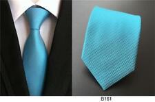 Tie Turquoise Mens Handmade Patterned 100% Silk Wedding Necktie UK Seller
