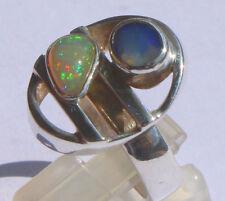 Welo Crystal Opal 2 Karat 950er Silberring Größe 18,8 mm
