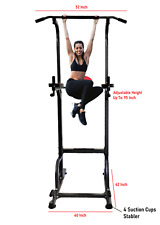 X-Factor Pull Up Power Tower 500 lbs Dip Chin Up Station w 4 Suction Cups Stable