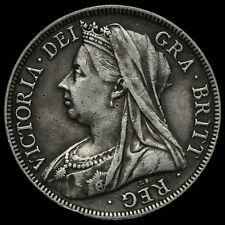 1898 Queen Victoria Veiled Head Silver Half Crown, Scarce, VF