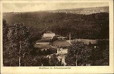 1918 Stempel AUE auf Feldpost-AK Bretthaus Schwarzwasser-Tal nach Zittau gelauf.