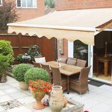 10u0027x8u0027 Manual Retractable Patio Awning Outdoor Sun Shade Canopy, ...