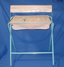 vtg child/girl baby/doll bath tub/wash stand changing table/stand SIGNED pink