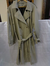 / Stafford Men's Trench Coat Jacket Cotton Blend Size 44 Long