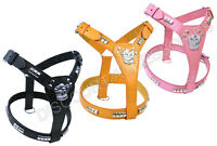 PINK BLACK BROWN LEATHER DOG HARNESS STAFFORDSHIRE BULL TERRIER STAFFIE STAFFY