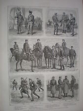 Hungary army the Honved or Landwehr 1888 old prints