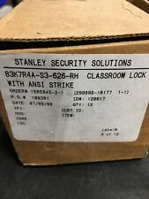 STANLEY SECURITY SOLUTIONS 83K7R4A-S3-626-RH CLASSROOM LOCK W/ANSI STRIKE *NEW*