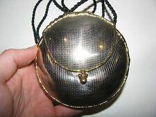 Vtg Hammered Tooled Metal Artisan Signed Evening Bag Flip Purse Round Silver Sm