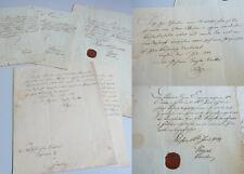 5 Dokumente 1848/49, Laufbahn Post-Schreiber Engmann in Pleß (Schlesien)