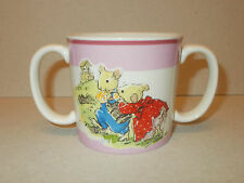 Aynsley Nursery Rhyme Collection Pink Twin Handled Hug A Mug 25009 - Lovely