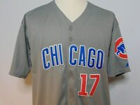 Kris Bryant #17 Chicago Cubs MLB Jersey Mens 50 Majestic Cool Base Sewn Grey NWT