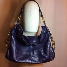 REBECCA MINKOFF Mini Nikki Violet Leather Hobo Handbag Pre-Loved