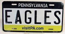 "EAGLES P.A. Tag NFL Vanity License Plate 6"" x 12"" All Metal USA Made (Brand New)"