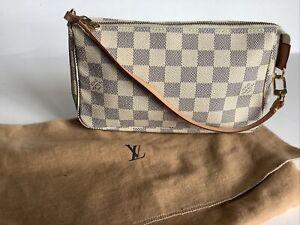 Louis Vuitton Damier Azur Pochette Hand Bag Number #CA 1097 PRISTINE!!