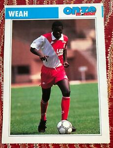 GEORGE WEAH (AS MONACO 1988 - 1989) - COLLECTOR TRADING FOOTBALL ROOKIE CARD