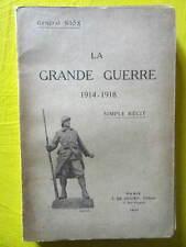 Général Niox La Grande Guerre 1914-1918 simple récit Ed. de Gigord 1921 cartes