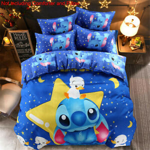 Cartoon Happy Stitch Comforter Cover Duvet Covers Sets Sheet Pillowcases Bedding