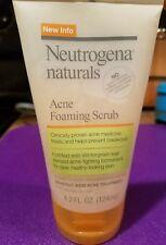 Neutrogena Naturals Acne Foaming Scrub, 4.2 FL OZ BN