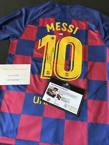 Official Signed Messi Jersey With Certificate Barcelona w/Autograph Photo 2019