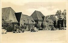 c1950 Real Photo Postcard; Hospital at Yreka Siskyou County CA Street w/ Cars