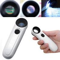 Handheld 40x LED Licht Mikroskop Lupe Lupe Lupen für Schmuck