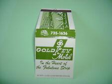 Vintage Gold Key Motel Las Vegas Matchbook with matches