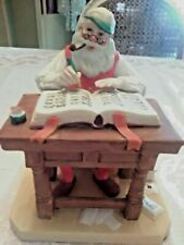 """Vintage Norman Rockwell Museum Santa Claus Figurine """"Checking His List� 1980"""