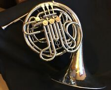 All-Original Conn 8D Double French Horn - Nickel-Silver - With Case & Mouthpiece