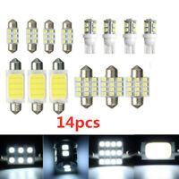 14pcs LED Car Interior Inside Light Dome Trunk Map License Plate Lamp Bulbs Set