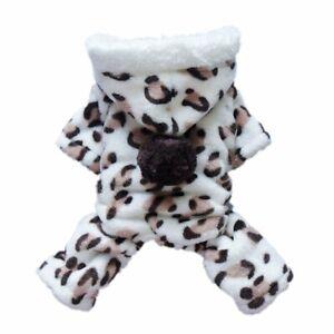 Adorable Dog Coat for Dog Hoodie Clothes Leopard Soft Cozy Pet Clothes Pet Coat