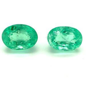 1.1tcw Emeralds Vibrant Green Ovals Ethiopia, Natural Gemstone *Video*