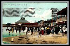 WILDWOOD NEW JERSEY STEEL PIER BATHING POSTCARD, 1908