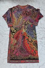 Vintage 1980s 80s Leonard Paris Silk Wool Long Sleeve Dress Designer Casual