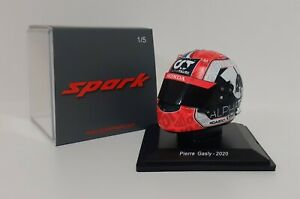 Model Helmet Scale 1:5 Spark Car F1 Alpha Tauri Honda Gasly 2020 Modeling
