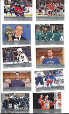 2016-17 UPPER DECK SP AUTHENTIC HOCKEY COMPLETE 15-CARD AUTHENTIC MOMENTS SET