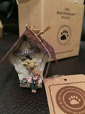 Boyds Bears Rare Retired Audie.The Lookout Mini Birdhouse Ornament