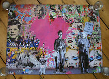 Mr Brainwash MBW Love is the answer Poster Print un-signed Fairey Banksy