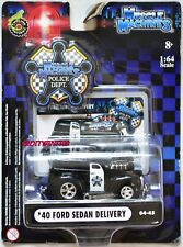 MUSCLE MACHINES POLICE DEPT '40 FORD SEDAN DELIVERY 04-45 BENT CARD W+