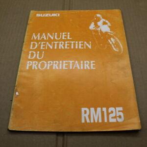 MANUEL REVUE TECHNIQUE D ATELIER SUZUKI RM 125 1993 -> 125RM RM125