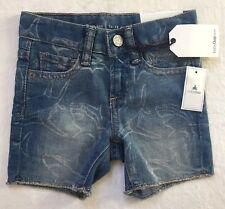 Baby Gap Baby Boy Jean Shorts Shark Print Stretch 12-18 Months New With Tags